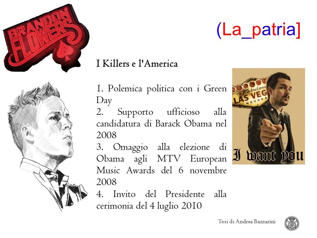 (La_patria] I Killers e l America 1. Polemica politica con i Green Day